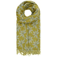 Seasalt Awakening Herb Flower Cotton Scarf Lime