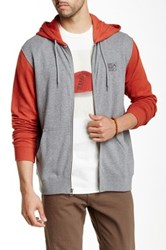 Rvca Balance Box Hooded Sweater Gray