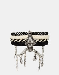 New Look Mono Rope Bracelet Black
