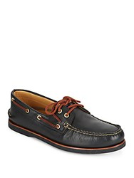 Sperry Gold A O Leather Boat Shoes Black