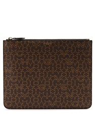 Givenchy Star Print Coated Canvas Pouch Brown Multi