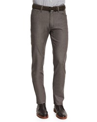 Ermenegildo Zegna Slim Fit Five Pocket Stretch Denim Jeans Beige