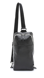 Ben Minkoff Pebbled Leather Raleigh Sling Black