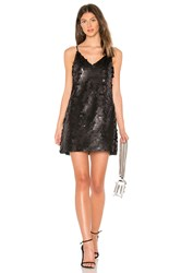 Line And Dot Luster Mini Slip Dress Black