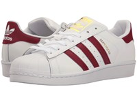 Adidas Superstar Footwear White Collegiate Burgundy Gold Metallic Women's Tennis Shoes