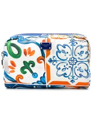 Dolce And Gabbana Maiolihe Panna Print Make Up Bag Multicolour