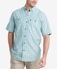 G.H. Bass And Co. Men's Explorer Fancies Plaid Shirt Icy Morn