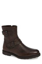 Kenneth Cole Reaction Drue Engineer Boot Brown Leather