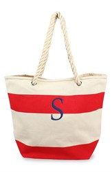 Cathy's Concepts Personalized Stripe Canvas Tote Red Red S