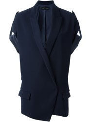 Alexandre Vauthier Rolled Sleeves Jacket Blue