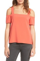 Cooper And Ella Women's Ava Cold Shoulder Top Orange