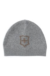 Victorinox Cross And Shield Intarsia Hat Gray