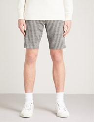 Calvin Klein Kalor Pinstripe Cotton Blend Shorts Grey