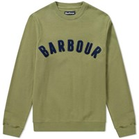 d42ff5547d11b Barbour Prep Logo Crew Sweat Green