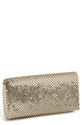 Jessica Mcclintock Mesh Clutch Metallic Light Gold