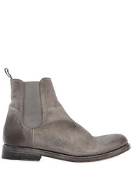 The Last Conspiracy Waxed Leather Chelsea Boots Grey