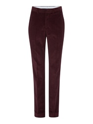 Chester Barrie Slim Fit Tailored Trousers Berry