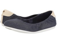 Cole Haan Studiogrand Ballet Dark Denim Sandshell Optic White Women's Ballet Shoes Black
