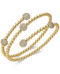 Danori 18K Gold Plated Pave Disc Coil Bracelet Created For Macy's