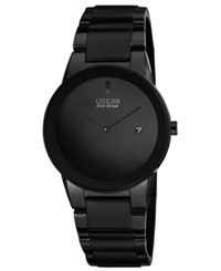 Citizen Men's Eco Drive Axiom Black Ion Plated Stainless Steel Bracelet Watch 40Mm Au1065 58E