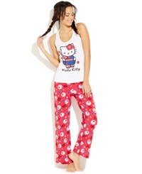 Hello Kitty Travel Tank And Pajama Pants Set Asian Red