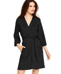 Jockey Cotton Interlock Robe Black