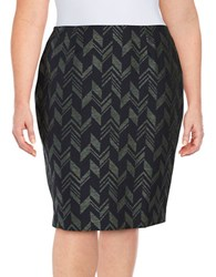 Nipon Boutique Plus Sparkle Chevron Skirt Evergreen