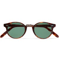 Cutler And Gross Round Frame Acetate Sunglasses Brown