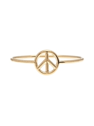 Aurelie Bidermann Thin Peace Sign Ring Metallic