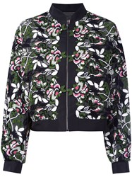 Giambattista Valli Floral Embroidered Jacket Black