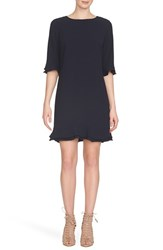 Women's Cece By Cynthia Steffe 'Kate' Ruffle Hem Shift Dress Caviar