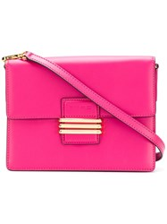 Etro Embroidered Strap Cross Body Bag Pink And Purple