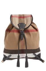 Burberry 'Chiltern' Check Print Canvas Backpack