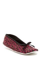 Isaac Mizrahi Quincy Floral Slipper Red