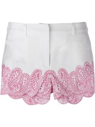 Michael Michael Kors Scallop Hem Shorts White