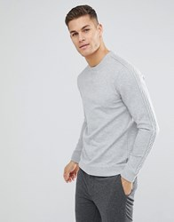 Ted Baker Sweat With Sleeve Detail In Grey Grey Marl