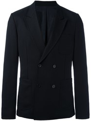 Ami Alexandre Mattiussi Double Breasted Jacket Black
