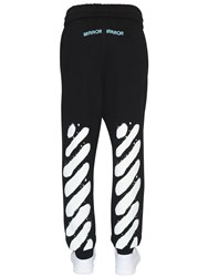 Off White Spray Stripes Cotton Sweatpants