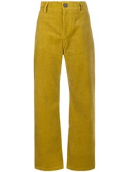 Sofie D'hoore Corduroy Wide Leg Trousers Yellow