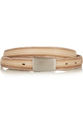 Isabel Marant Ciara Leather Waist Belt White