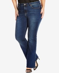 City Chic Plus Size Dark Wash Bootcut Jeans Dark Denim