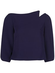 Christian Siriano Cropped Notched Shoulder Top 60