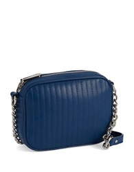 Kenneth Cole Sloan Street Leather Crossbody Bag Cobalt