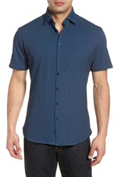 Stone Rose Contemporary Fit Tech Knit Sport Shirt Navy