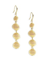 Amrita Singh Patter Ball Earrings Gold