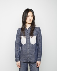 Maison Martin Margiela Contrast Patch Pocket Shirt Indigo