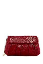 Urban Expressions Juliet Snake Embossed Vegan Leather Clutch Red
