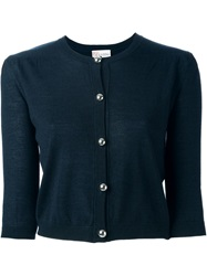Red Valentino Cropped Cardigan Blue