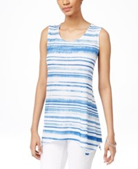 Styleandco. Style And Co. Striped Handkerchief Hem Tank Top Only At Macy's Variegated Dist