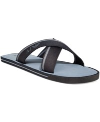 Armani Jeans Logo Slide Sandals Men's Shoes Black